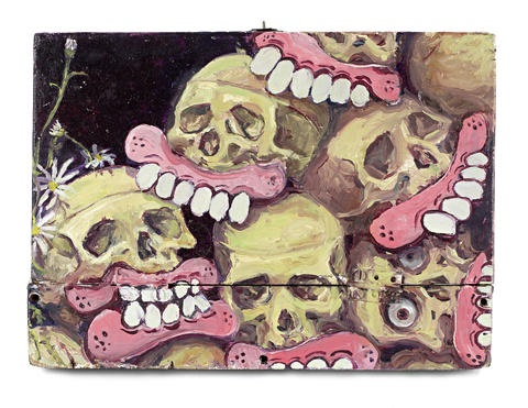 stack of skulls by sweet toof