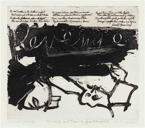 revenge from 21 etchings and poems by willem de kooning