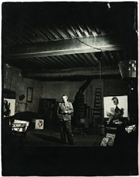 pablo picasso in his rue des grands augustins studio by peter rose pulham