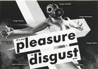 untitled (it's our pleasure to disgust you) by barbara kruger