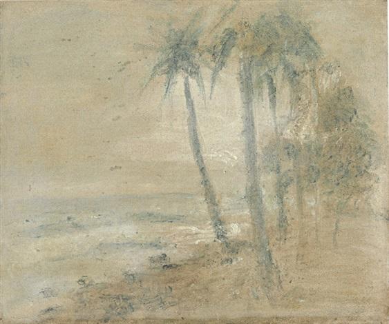 cocoteros en la playa macuto by armando reverón