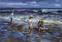 les jeux au bord de la mer by lioudmila zabelina