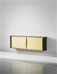 rare wall-mounted sideboard by jean prouvé