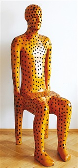 sitting figure by michal gabriel