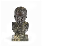 bust of a boy by thomas stuart burnett