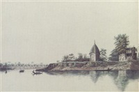 a hindu village called commercolly, with two hindu temples on the bank by hubert cornish
