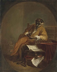 le singe antiquaire (the monkey antiquarian) by jean baptiste siméon chardin