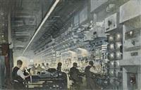 a radio-telephone control room by thornton oakley