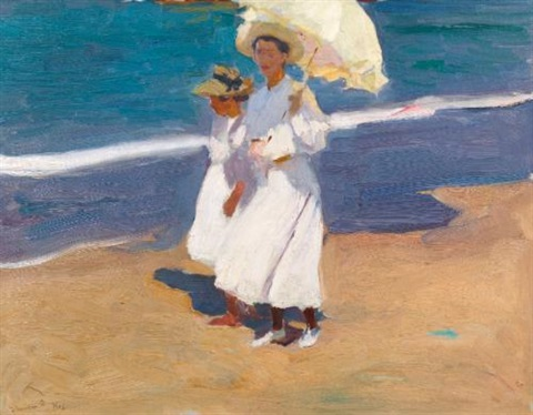en la playa by the seaside by joaquin sorolla y bastida