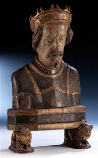 gotische schnitzfigur einer königsbüste by anonymous (15)
