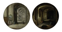 a church interior (+ the vaults; pair) by hendrick van steenwyck the younger