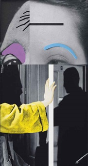 raised eyebrows / furrowed foreheads: arm (with shadow) by john baldessari