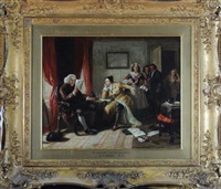 doctor johnson and oliver goldsmith by edward matthew ward