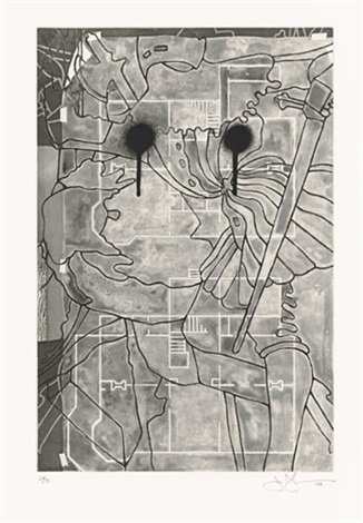 untitled (from the geldzahler portfolio) by jasper johns