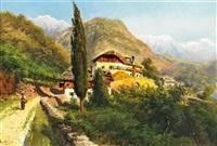 bauernhaus oberhalb von bozen by alois toldt