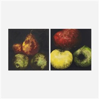 apples and red pears (two works from the fruits and flowers portfolio) by donald sultan
