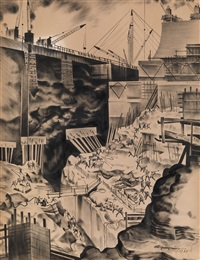 dnieprostroi. work in the pit of the middle canal by nikolai dormidontov