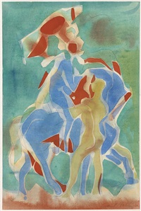 horse and rider * minotaur (2 works) by carl robert holty