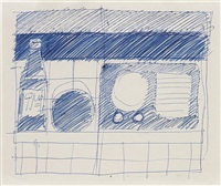 sketch for 7up and radio by tom wesselmann