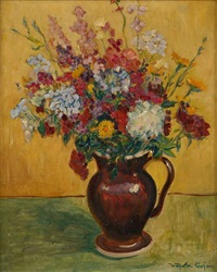 le pichet fleuri by lajos vajda