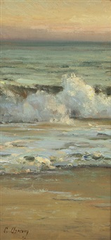 santa barbara beach by clyde aspevig