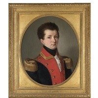 portrait of a young soldier, bust length, wearing military uniform by italian school-piedmont (19)