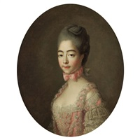 portrait of marie-josephine louise de savoie (1753-1810), comtesse de provence by françois hubert drouais