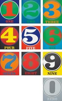 numbers (portfolio of 10) by robert indiana