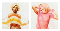 marilyn monroe, diptych (from the last sitting) by bert stern