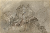 burg eltz, germany by joseph mallord william turner