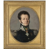 portrait of a gentleman, bust length, in military uniform by italian school-piedmont (19)