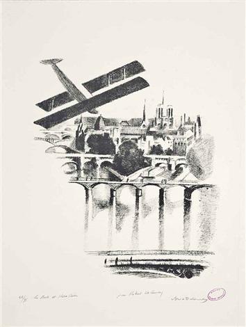 les ponts et notre dame by robert delaunay