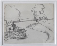 farm landscape by keith vaughan