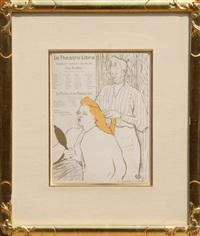 le theatre libre / le coiffure by henri de toulouse-lautrec