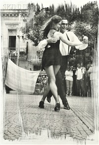 tango dancers, buenos aires by paul ickovic