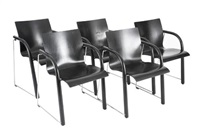 s 320 armchairs (set of 5) by wulf schneider and ulrich bohme