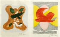 descente aux enfers de marcel jouhandeau (set of 2) by georges braque