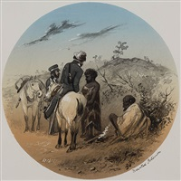 mounted policemen by samuel thomas gill