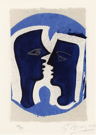 le couple from lettera amorosa by georges braque