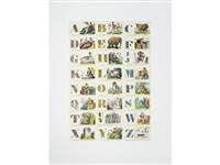 a is for alphabet; b is for boxer (2 works) by peter blake