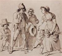 les mendiants by pierre alexandre wille