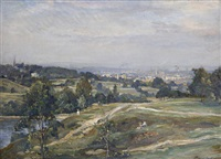 view from vale of heath - hampstead heath by james herbert snell