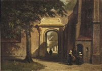 the church courtyard by johannes bosboom