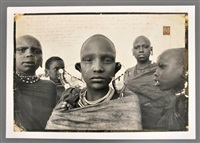 photograph of majai girls by peter beard