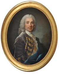 portrait du marquis de lücker by louis tocqué