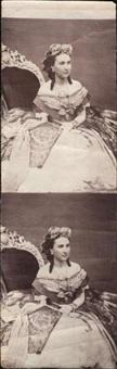 charlotte de belgique, impératrice du mexique, double portrait by francois aubert