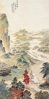 山区新貌 (new look in coutryside) by xiao jianchu