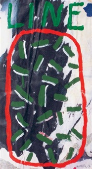 line by mimmo rotella
