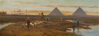 near the pyramids by frederick goodall