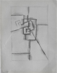 abstract composition by keith vaughan